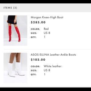 ASOS Shoes - ASOS Ellenia white leather boots